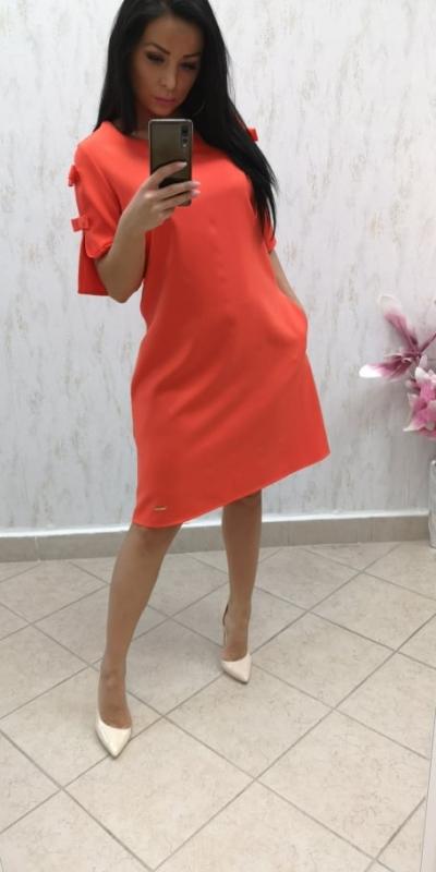 3582726d0034 Dámske elegantné oranžové šaty