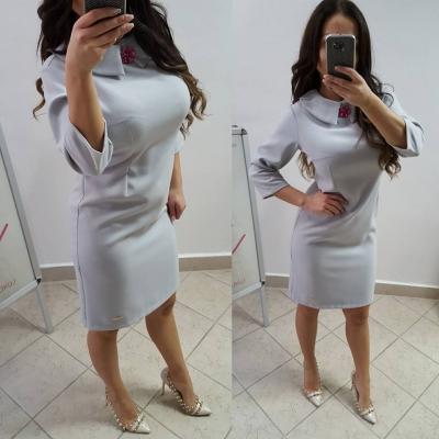 b307968ec499 Dámske šaty s limčekom - sivá farba